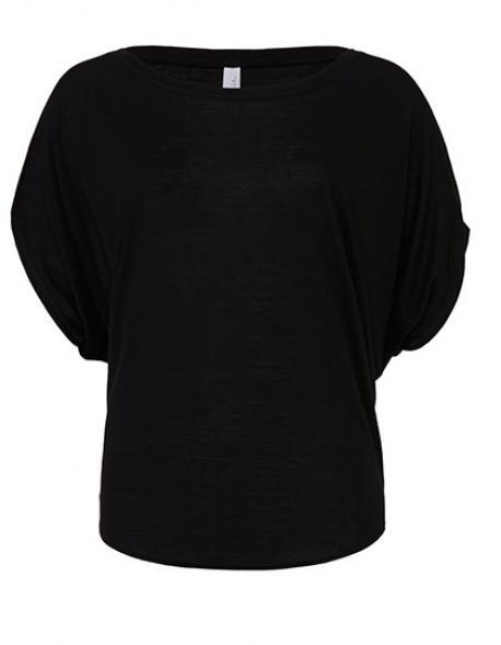 Flowy Drapped Sleeve Dolman Damen T-Shirt