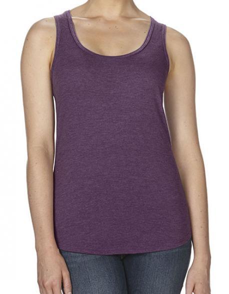 Damen Shirt Tri-Blend Racerback Tank / Vorgeschrumpft