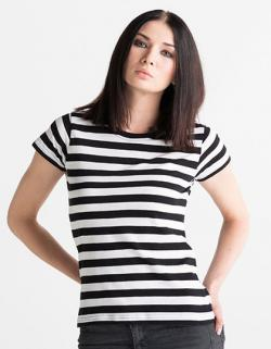 Damen T-Shirt modisch gestreift