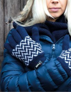 Pattern Thinsulate Glove / Winter Handschuhe