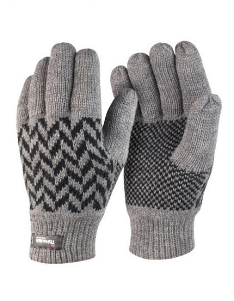 Pattern Thinsulate Glove / Winter Handschuhe