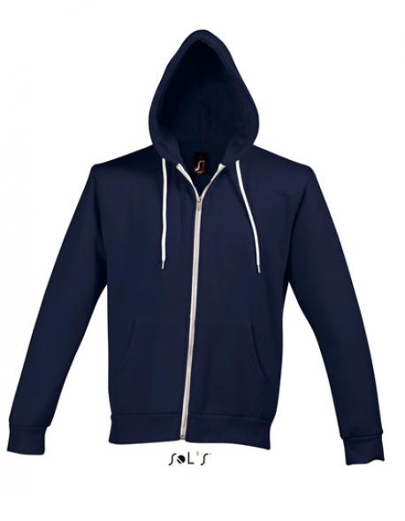 Hooded Zipped Jacket Silver / Herren Kapu mit Reißverschluss