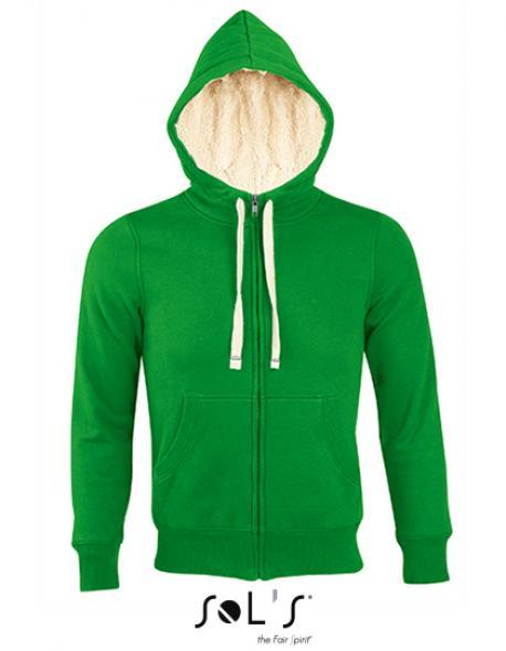 Unisex Zipped Jacket Sherpa / Herren und Damen Kapuzenpulli