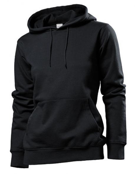 Hooded Sweatshirt / Damen Kapuzenpulli   ÖKO-TEX   WRAP