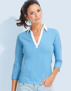 Damen Polo Shirt Panach | 3/4 Ärmel