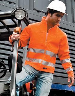 High-Vis Softshell Arbeits Jacke | ISO EN20471:2013 Klasse 2