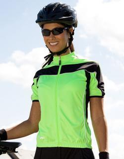 Damen Bikewear Top mit Reisverschluss +UV-Schutz