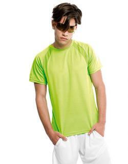Mens Sport T-Shirt +Belüftungsz. aus Netzgewebe