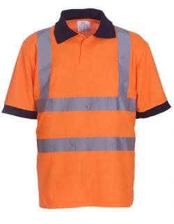 Herren Sicherheits Polo Shirt EN ISO 20471 bis 6XL