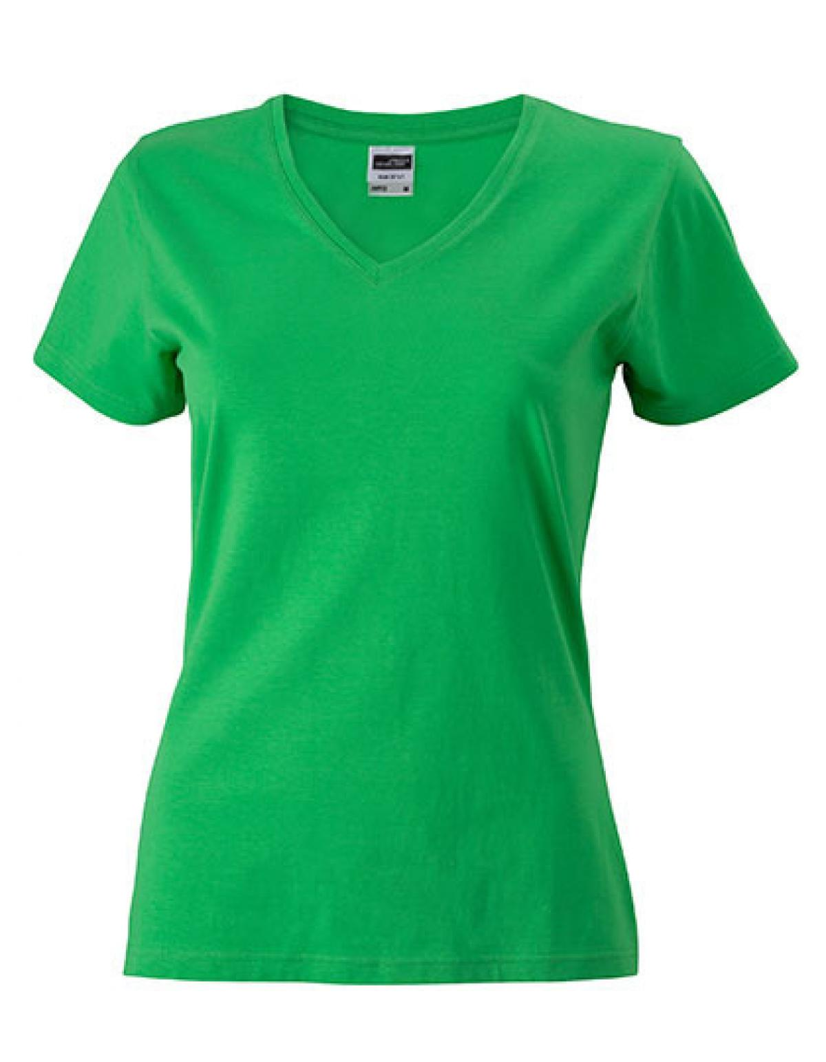 Damen Slim Fit V-Neck-T-Shirt +Taillierter Schnitt