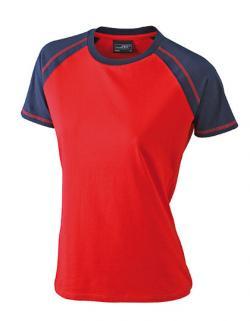 Damen Raglan-T-Shirt in sportlicher Optik