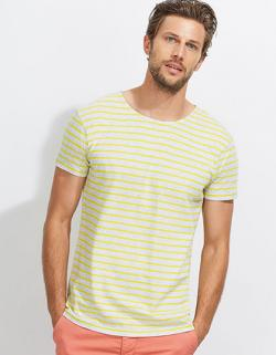 Herren Striped T-Shirt modisch gestreift