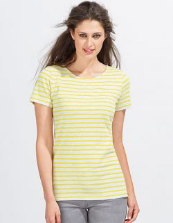 Damen Striped T-Shirt modisch gestreift