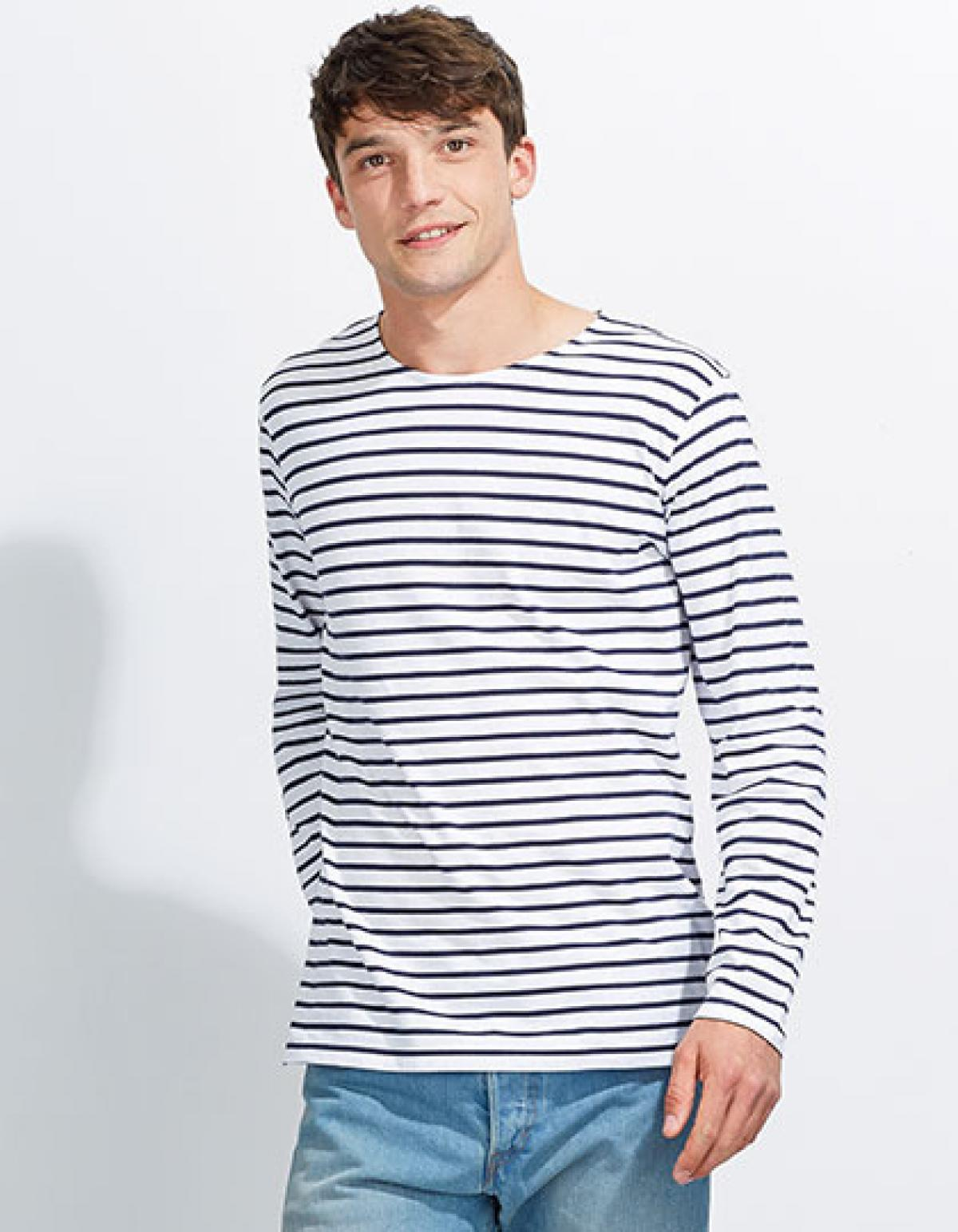 herren longsleeve striped t shirt marine gestreift rexlander s. Black Bedroom Furniture Sets. Home Design Ideas