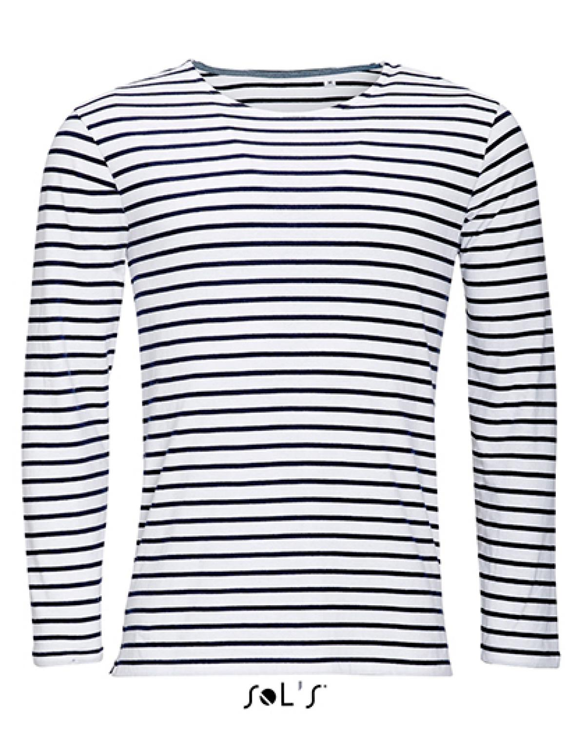 herren longsleeve striped t shirt marine gestreift. Black Bedroom Furniture Sets. Home Design Ideas
