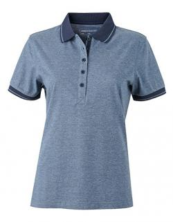 Damen Heather Poloshirt +Single-Jersey-Qualität