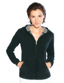 Women s Hooded Fleece Jacket / Damen Fleece Jacke