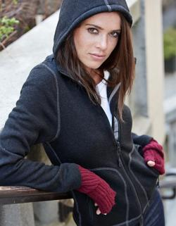 Damen Hooded Fleece Jacke Aspen