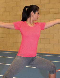 Damen Fitness T-Shirt Shiny Marl +Komfortable Passform