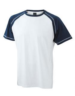 Herren Raglan-T-Shirt in 2-farbiger Optik