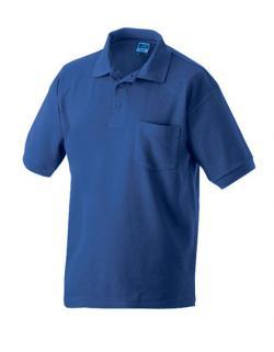 Klassisches Herren Polo-Piqué T-Shirt mit Brusttasche