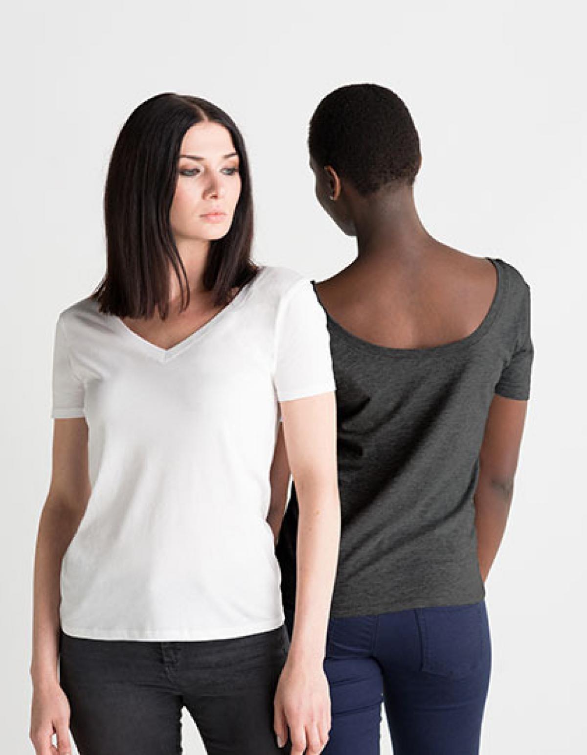 damen sommer v neck t shirt mit u ausschnitt rexlander s. Black Bedroom Furniture Sets. Home Design Ideas