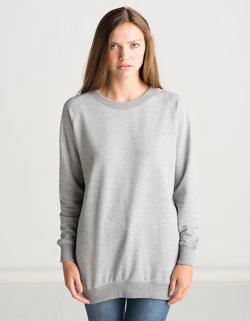 Damen Long Length Sweatshirt in Überlänge