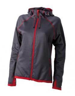 Damen Hodded Fleece Sweatjacke