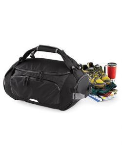 Schwarze Reise und Sport Tasche | 54 x 27 x 34 cm