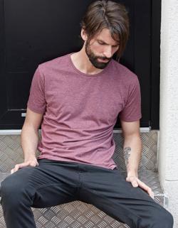 Urban Melange Herren T-Shirt / Mischgewebe | Tailor Fit