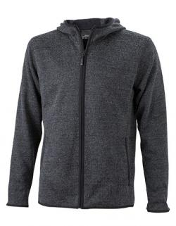 Men s Knitted Fleece Hoody Herren Kapuzen-Jacke