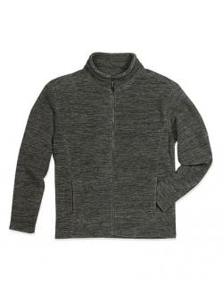 Active Melange Herren Fleece Jacke