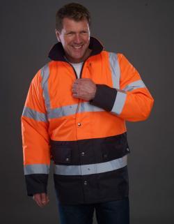 High Visibility Herren Arbeitsjacke | EN ISO 20471:2013