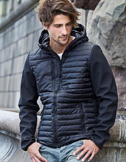 Herren Hooded Crossover Softshell Jacke