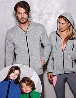 Active Knit Damen Fleece Jacke in Strick-Optik