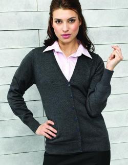 Damen Button Through Knitted Cardigan +ÖKO-TEX