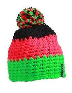 Crocheted Cap mit Pompon / Damen Bomel Mütze