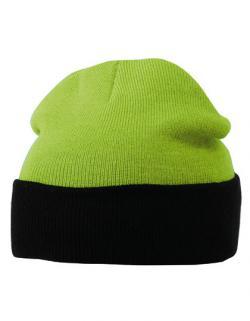 Knitted Cap Winter Strickmütze mit Umschlag