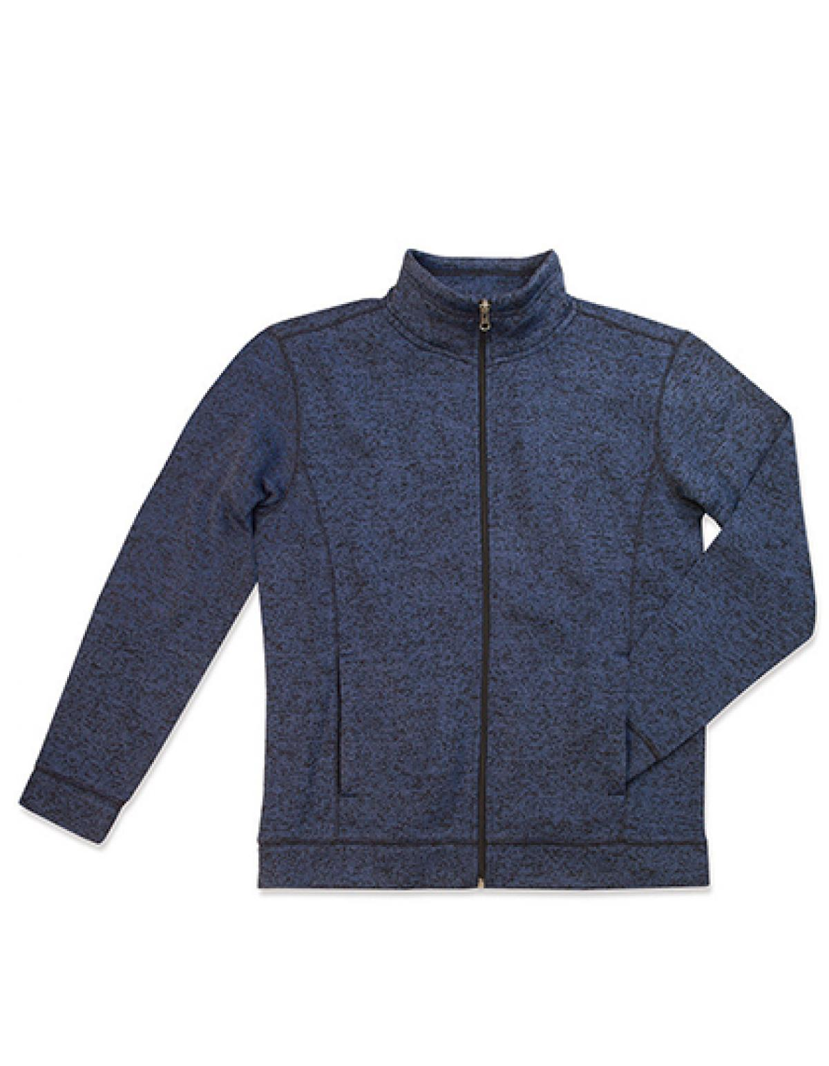 active knit herren fleece jacke mit stehkragen rexlander s. Black Bedroom Furniture Sets. Home Design Ideas