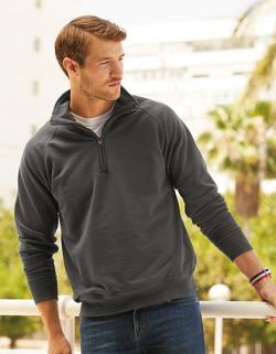 New Lightweight Zip Neck Herren Sweatshirt