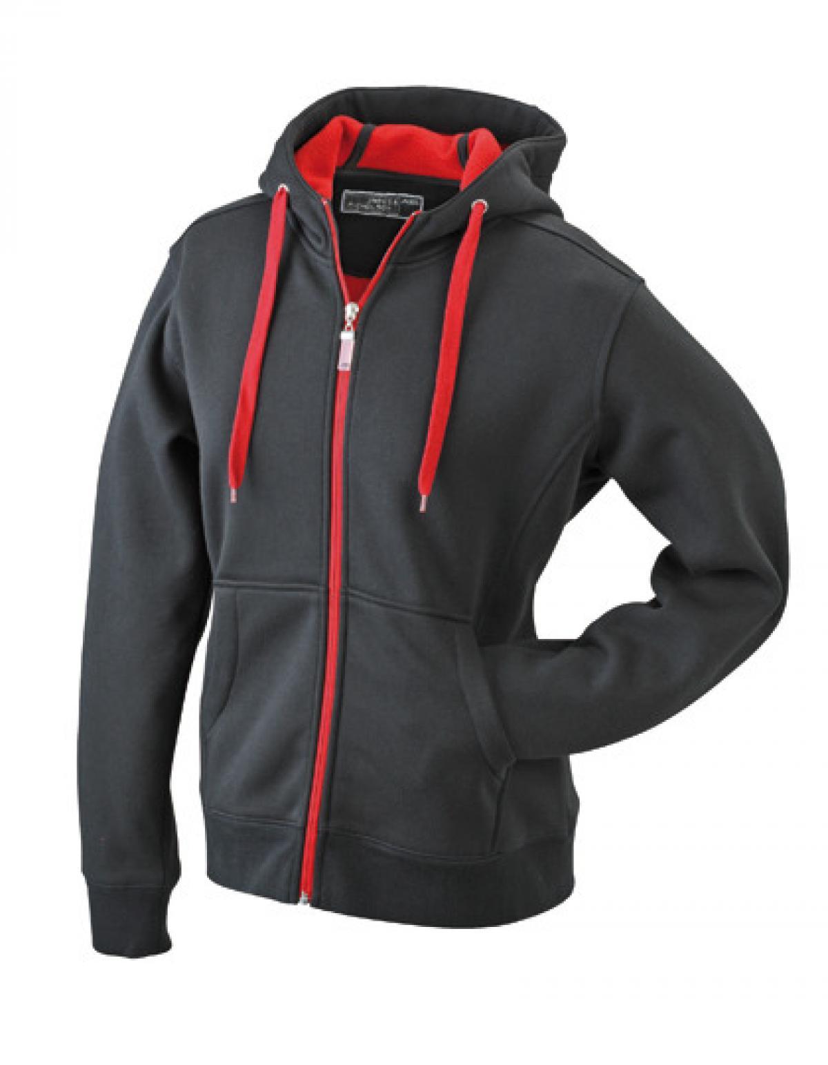 damen doubleface jacket hoodie mit kaputze rexlander s. Black Bedroom Furniture Sets. Home Design Ideas