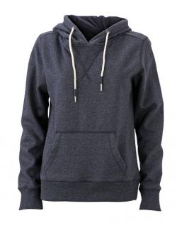 Damen Hoody / Kaputzenpulli in Melierter Optic