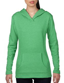 Womens Crossneck Hooded Sweatshirt / Kapuzenpullover