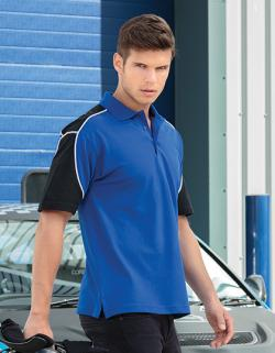 Monaco Herren Polo Shirt in Kontrastfarben