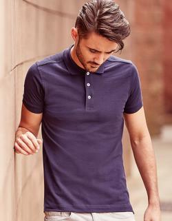 Herren Stretch Polo Shirt / längere Ausführung