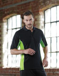 Herren Track Polo Shirt mit Kontrastfarben / Oeko-Tex