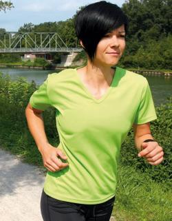 Damen Funktions-Shirt / V-Ausschnitt