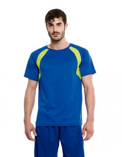 Herren Combi Sport Shirt / Belüftungszonen aus Netzgewebe