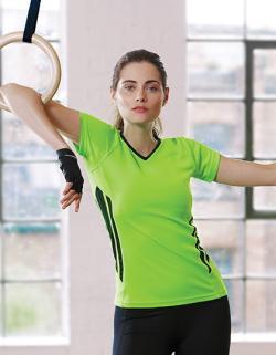Damen Sport Training T-Shirt / Atmungsaktives Material