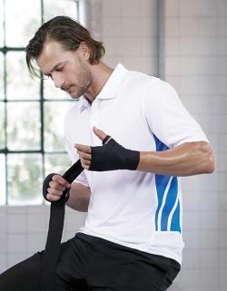 Herren Training Polo Shirt / Atmungsaktiv